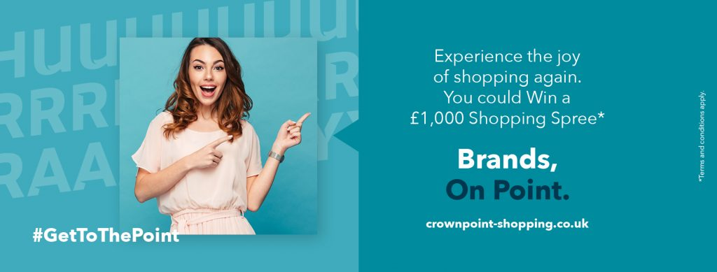 Experience the joy of shopping again. You could Win a £1,000 Shopping Spree*